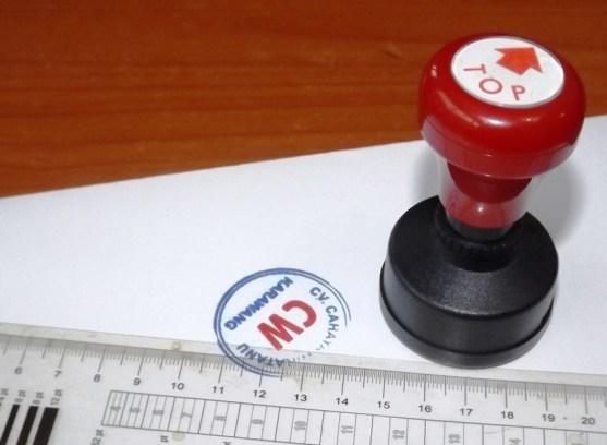 Stempel Otomatis Multi Warna Produk Percetakan Ayu Karawang - Stempel Otomatis DSCF2376