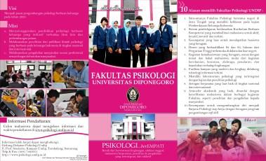 Desain Brosur Kampus Universitas Terbaik - Brosur PSIKOLOGI UNDIP