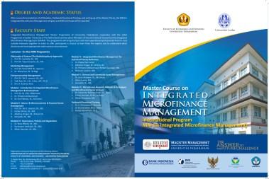 Desain Brosur Kampus Universitas Terbaik - Program IMM – Program MM FE Unpad