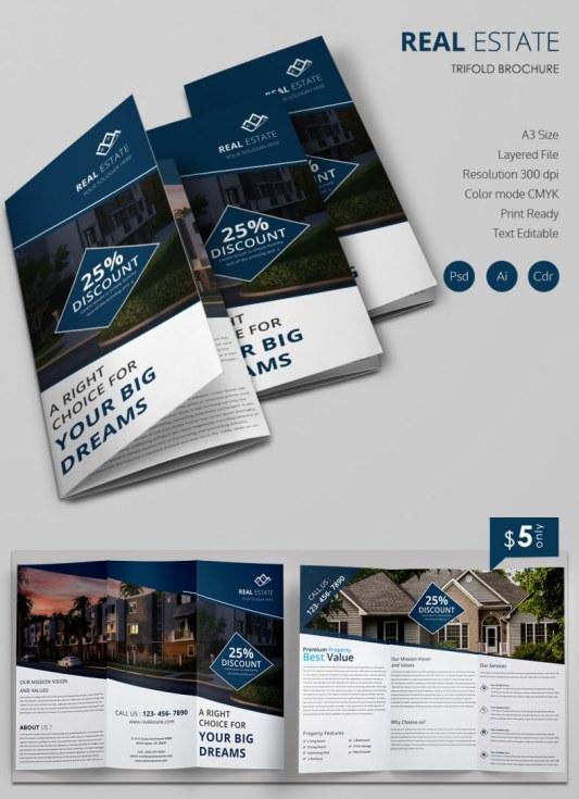 17 Contoh Desain Brosur Real Estate
