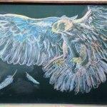 Lukisan Papan Tulis Luar Biasa Indah