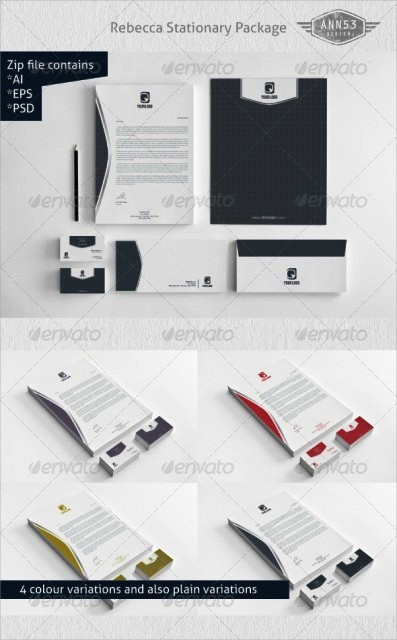 Desain kop surat free download template