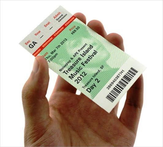 Contoh Desain Tiket 18
