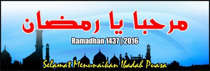 Spanduk dan Banner Menyambut Ramadhan