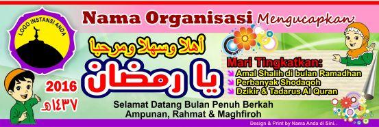 Banner Spanduk Anak-anak Kartun Menyambut Ramadhan 2016 1437