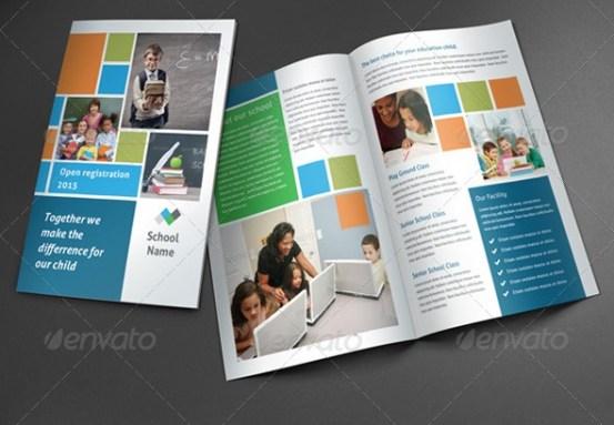Brosur sekolah contoh desain template download