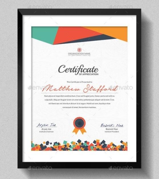 desain sertifikat ijazah penghargaan free 7 premium download