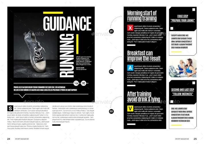 Majalah Olahraga Desain Template