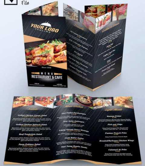30 Desain Brosur Restoran untuk Promosi dan Marketing