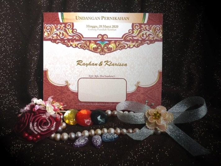 Blangko Undangan Pernikahan iCard Wedding Invitation President Card