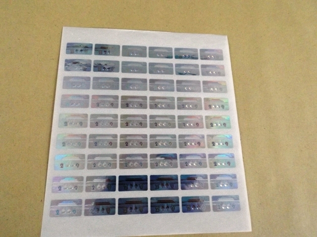 Contoh Product Sticker Hologram