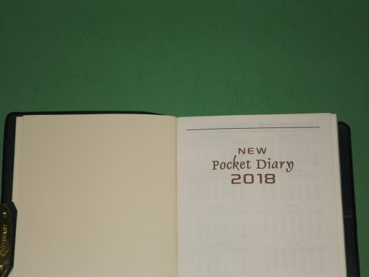 Buku agenda saku new pocket diary 2018