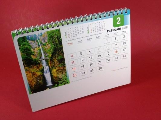 Kalender Meja 2018 Air Terjun Dunia AO 916