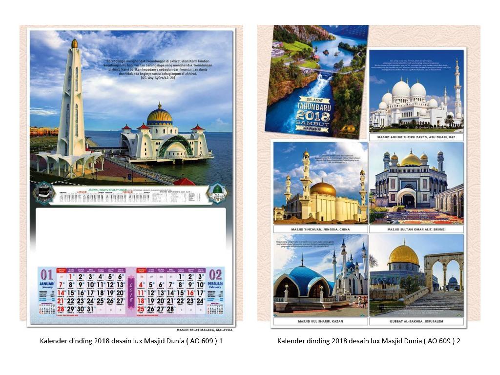 9 Kalender Dinding 2018 Desain Lux 6 Lembar 2 Bulanan_Page ...