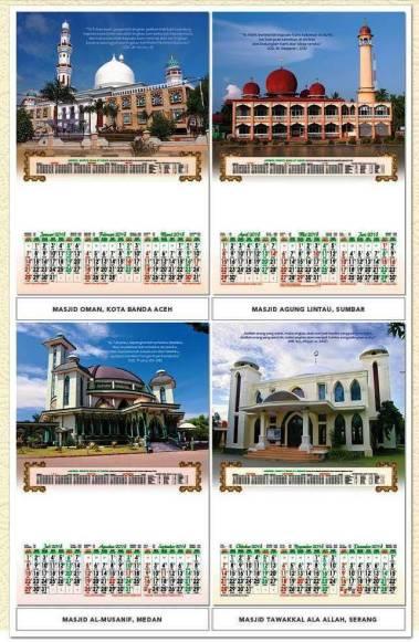 Kalender Dinding 2018 Triwulan Desain Profesional