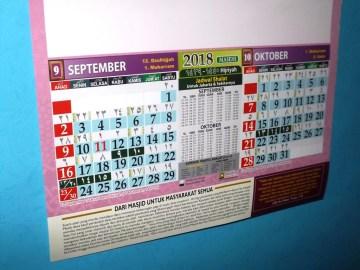 Kalender islami 2018 Haniefa Kreasi lengkap