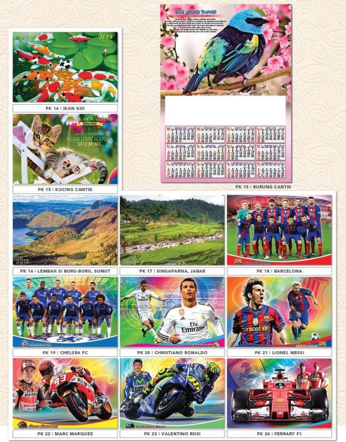 Daftar Harga Kalender AO 2018