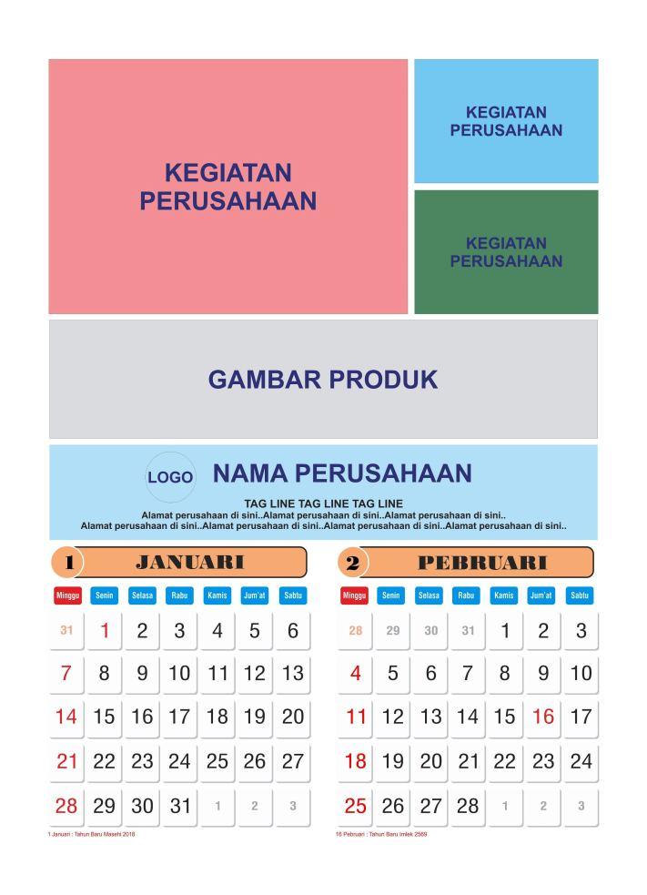 5 Tips Wajib Ketika Mendesain Kalender 2018