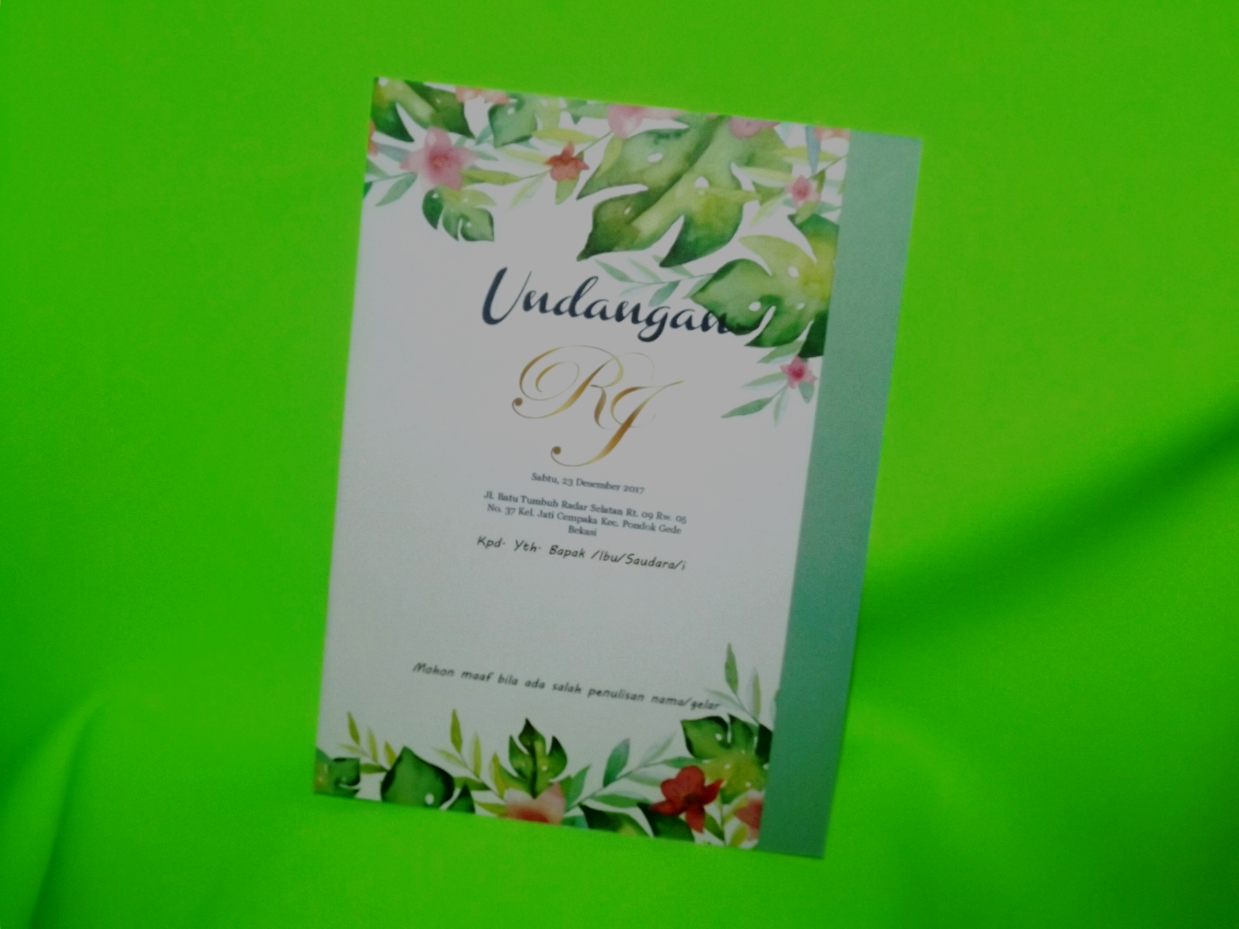 Undangan Pernikahan Three Diamonds Card Wedding Invitations