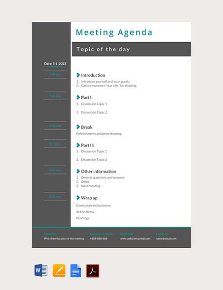 They help you keep track of simple — but critically important — dates, like upcoming birthdays and anniversaries, but if you lead a busy life, their usefulness extends fa. 02 Free Meeting Agenda Template Ayuprint Co Id