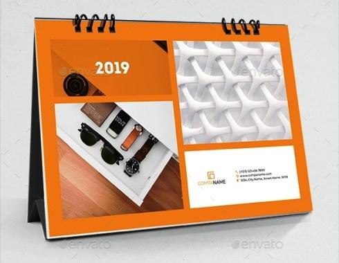 Template Desain Kalender Meja 2019 PSD AI InDesign - Download