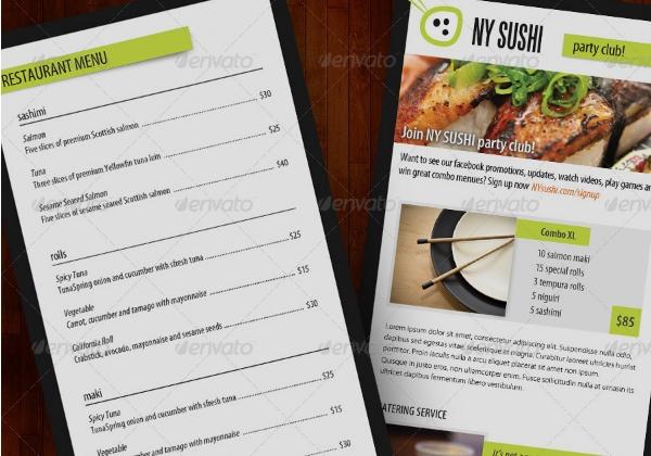 8+ Template Brosur Katering dan Makanan Terbaik