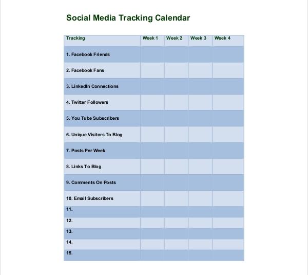 Template Kalender Media Sosial