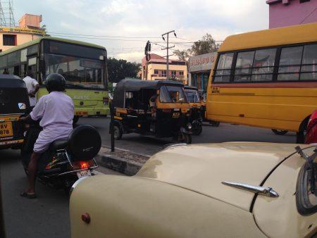トリバンドラムの渋滞