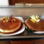 プリンとケーキ