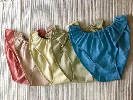 アーユルヴェーダ染め手紡ぎ手織りふんどしパンツ
