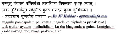 Gulgulu Panchapala Choornam
