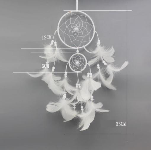 Attrape-rêves blanc fait main