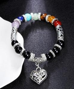 Bracelet 7 chakras Amour