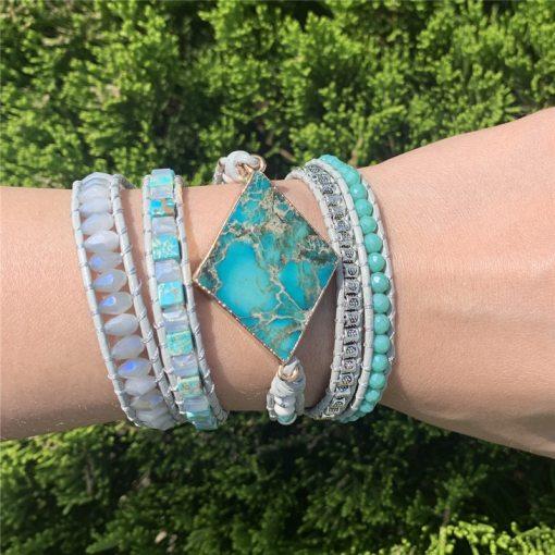 Bracelet Bohème Chic harmonisant en jaspe et agate