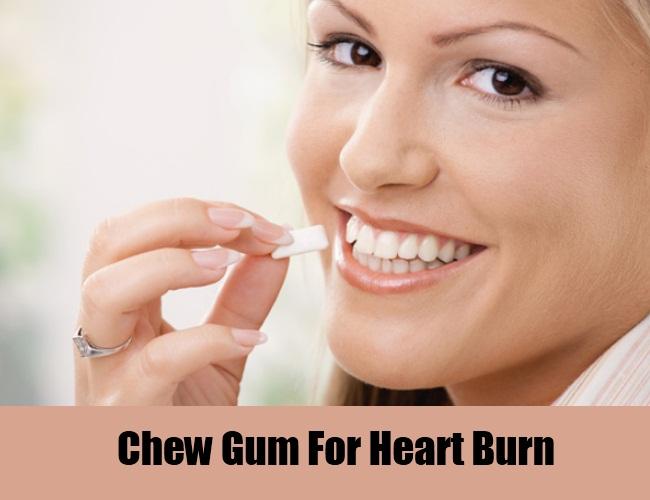 Chew Gum For Heart Burn