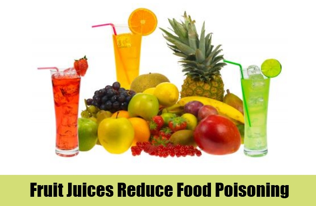 Fruit Juices Reduce Food Poisoning