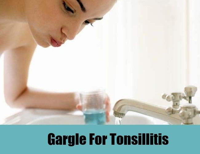 Gargle For Tonsillitis