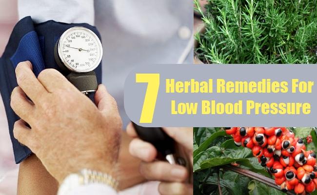 Herbal Remedies For Low Blood Pressure
