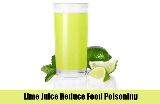 Lime Juice Reduce Food Poisoning