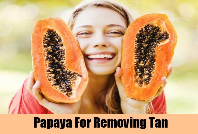 Papaya For Removing Tan