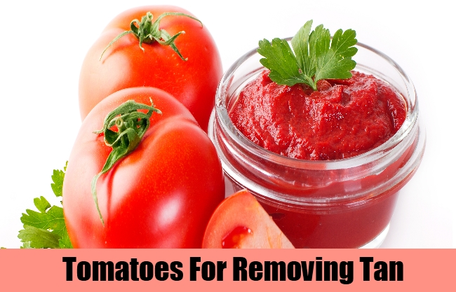 Tomatoes For Removing Tan
