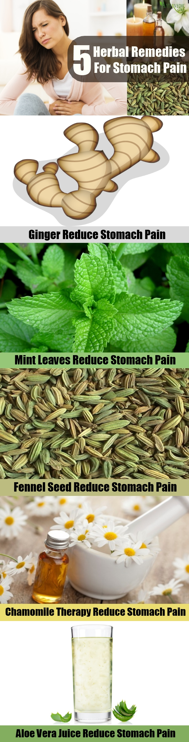 5 Effective Herbal Remedies For Stomach Pain