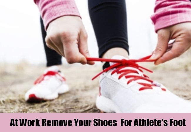 At Work Remove Your Shoes  For Athlete's Foot