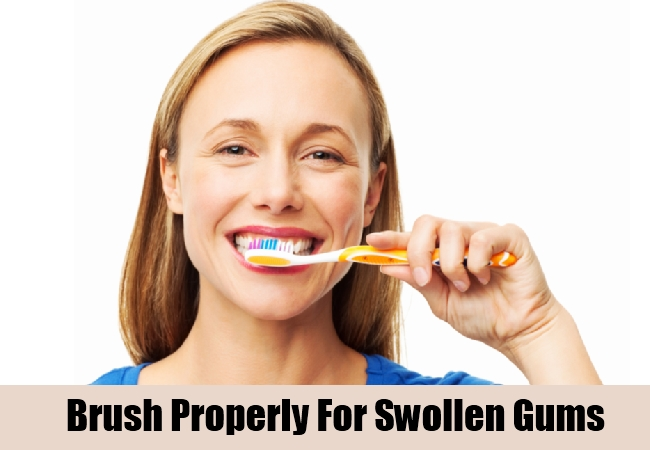 Brush Properly For Swollen Gums