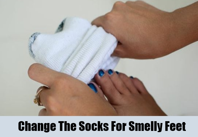 Change The Socks For Smelly Feet