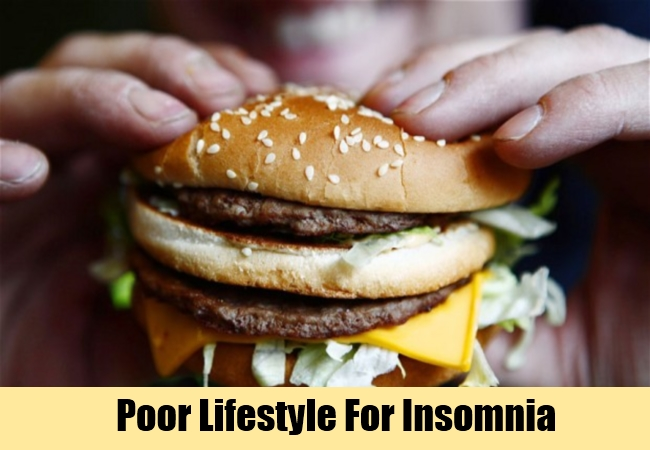 Poor Lifestyle For Insomnia