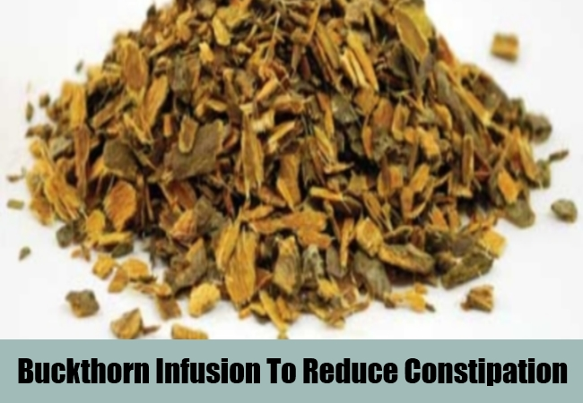 Buckthorn Infusion To Reduce Constipation