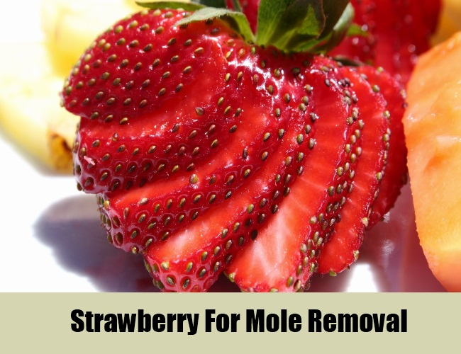 Strawberry For Mole Removal
