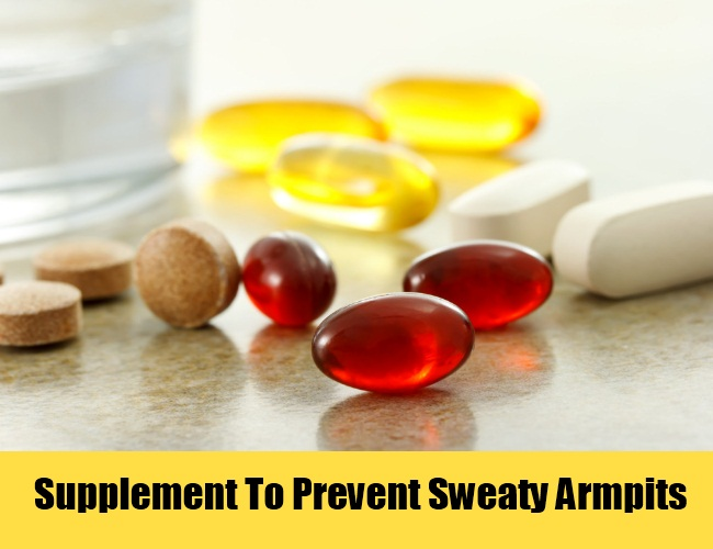 Supplement To Prevent Sweaty Armpits