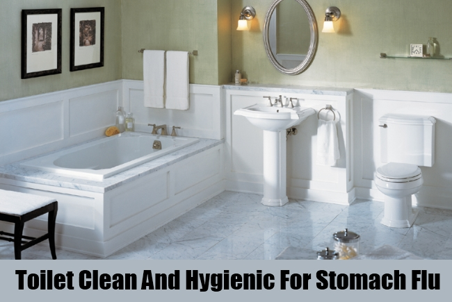 Toilet Clean And Hygienic For Stomach Flu